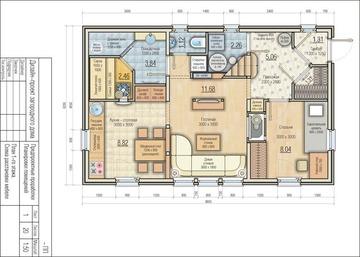 121,5 кв м  план 1-го этажа